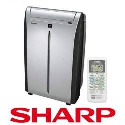 Klimatyzator przenośny Sharp CVP10PR 2,5 kw z jonizatorem - bardzo cichy - WYPRZEDAŻ !