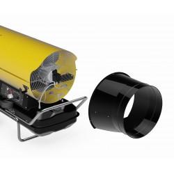 Zestaw do recyrkulacji powietrza do nagrzewnic olejowych.